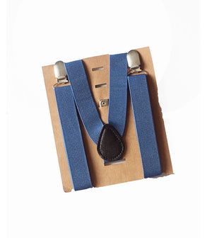 Indigo Suspenders - Newborn to Adult sizes