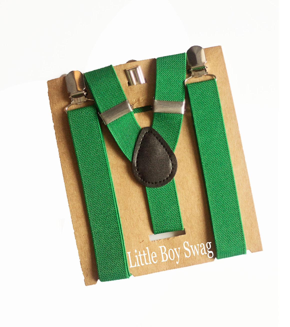 Kelly Green Suspenders - Newborn to Adult sizes