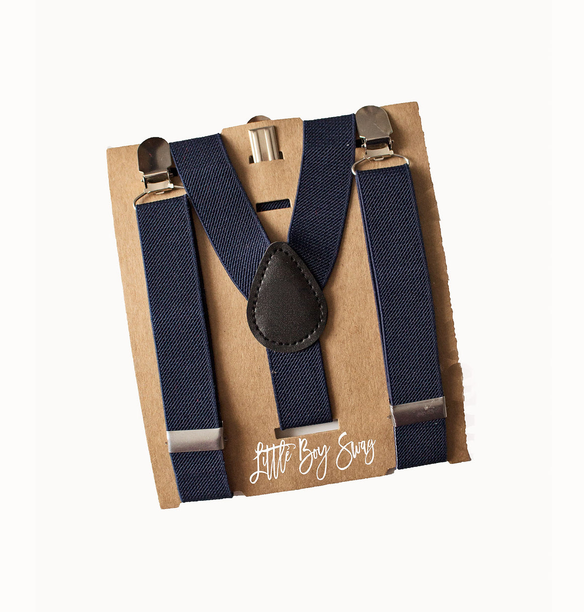 Navy Suspenders - Newborn to Adult sizes