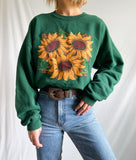 Vintage True 90's Sunflower Crewneck Sweatshirt