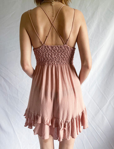 Free People Adella Dress — Blush