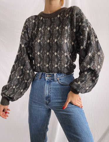 Vintage Ultra Soft 90's Patterned Grandpa Sweater