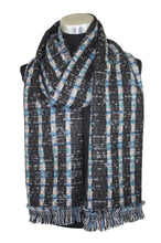 Load image into Gallery viewer, Patterned Blanket Scarf with Fringe