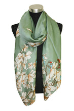 Load image into Gallery viewer, Satin effect printed scarf