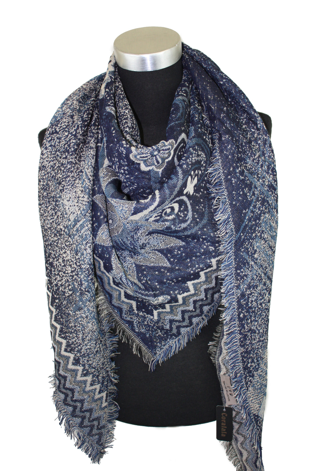 Paisley Wool Triangle Scarf