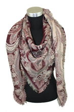 Load image into Gallery viewer, Paisley Wool Triangle Scarf
