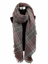 Load image into Gallery viewer, Soft Plaid Blanket Scarf