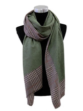 Load image into Gallery viewer, Plaid Border Cashmere Scarf