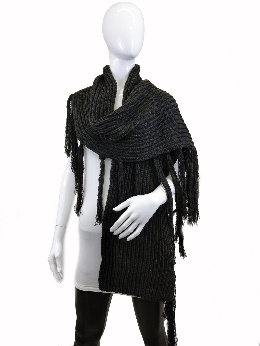 Shawl with Long Fringe