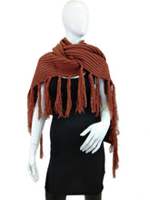 Load image into Gallery viewer, Shawl with Long Fringe