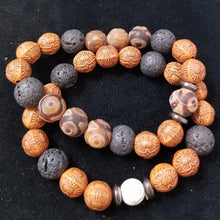 Load image into Gallery viewer, Frost Agate Wood Bracelet