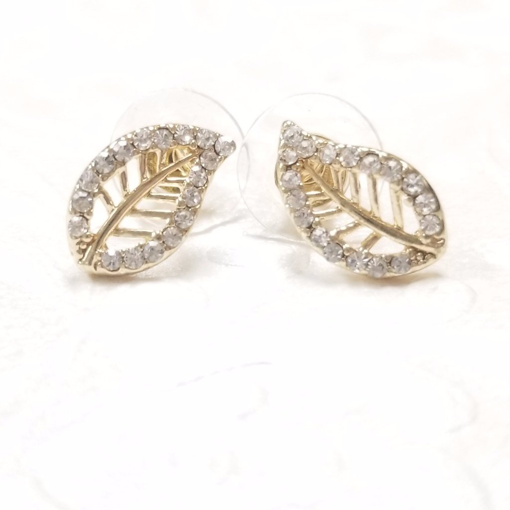 14k Gold filled with cubic zirconia stud earrings