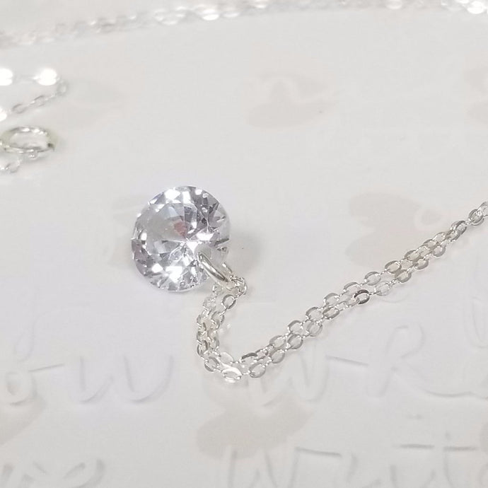 14k Gold filled with cubic zirconia Necklace
