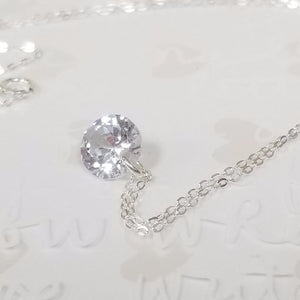 925 Sterling Silver with cubic zirconia Necklace