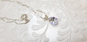 925 Sterling Silver chain with Swarovski Tear shape Necklaces