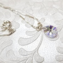 Load image into Gallery viewer, 925 Sterling Silver chain with Swarovski Tear shape Necklaces