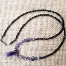 Load image into Gallery viewer, Amethyst Ruby Onyx Necklace