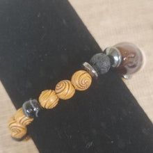 Load image into Gallery viewer, Wood Gemstone Lava Bracelet