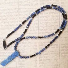 Load image into Gallery viewer, Lapis Lazuli Onyx Necklace