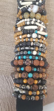 Load image into Gallery viewer, Hematite Wood Jasper Bracelet