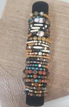 Load image into Gallery viewer, Turquoise wood Hematite Bracelet