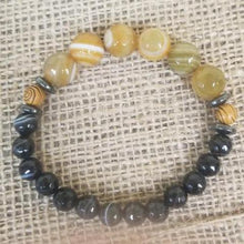 Load image into Gallery viewer, Black Agate Bracelet
