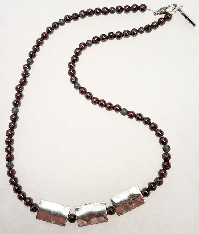 Ruby Silver Pewter Necklace/Chocker