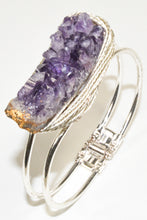 Load image into Gallery viewer, Amethyst Silver Color Bracelet