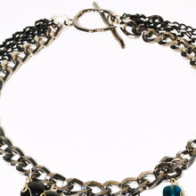 Load image into Gallery viewer, Black & Gray Multi Chain Necklace