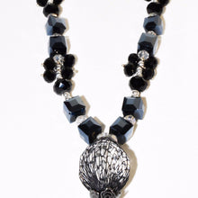 Load image into Gallery viewer, Black White Sparkle Stone Necklace