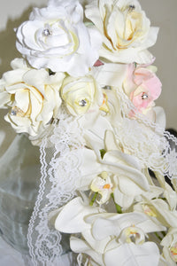 LONG CASCADING Bridal Bouquet 24