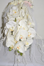 Load image into Gallery viewer, LONG CASCADING Bridal Bouquet 24