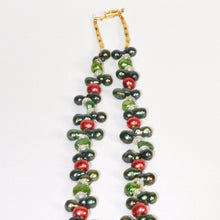 Load image into Gallery viewer, Colorful Fresh Water Pearls Hamssah Necklace
