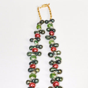 Colorful Fresh Water Pearls Hamssah Necklace