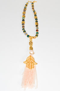 Colorful Minerals Hamssah Necklace