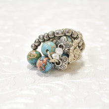 Load image into Gallery viewer, Silver Plated Wire Jasper Ring