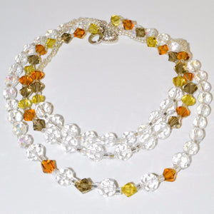 Golden Earth Green Crystals Bracelet/Necklace