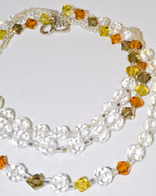 Load image into Gallery viewer, Golden Earth Green Crystals Bracelet/Necklace