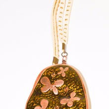 Load image into Gallery viewer, Bronze Butterfly Pendant Necklace with Bead Tassels