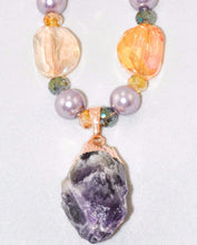 Load image into Gallery viewer, Large Natural Amethyst Geode Necklace