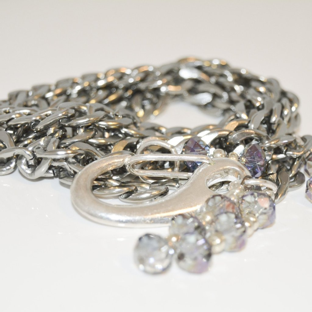 Looped Silver Color Chain