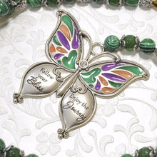 Load image into Gallery viewer, Malachite Stone, Butterfly Pendant Necklace