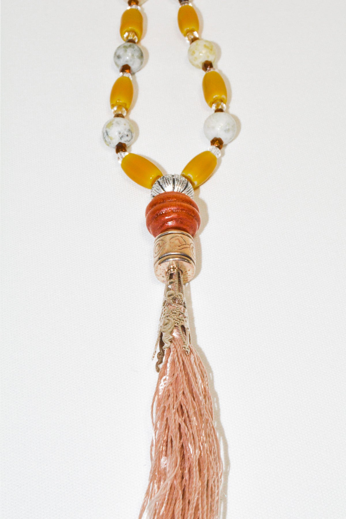 Minerals Stone Tassel Necklace