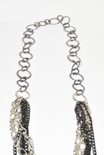 Load image into Gallery viewer, Multi Black Chain Hamssah Necklace