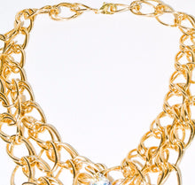 Load image into Gallery viewer, Multi Gold Chain Crystal Necklace