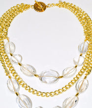 Load image into Gallery viewer, Multi Gold Chain Clear Beads