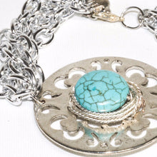 Load image into Gallery viewer, Multi Link Chain Turquoise Bracelet