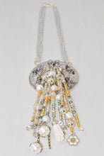 Load image into Gallery viewer, Multi bead strands Tassel Pendent Necklace
