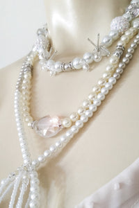 Multi Pearl Strand & Glass Bead Necklace