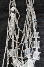 Load image into Gallery viewer, Long Multi Strand Flat Glass Beads Necklace